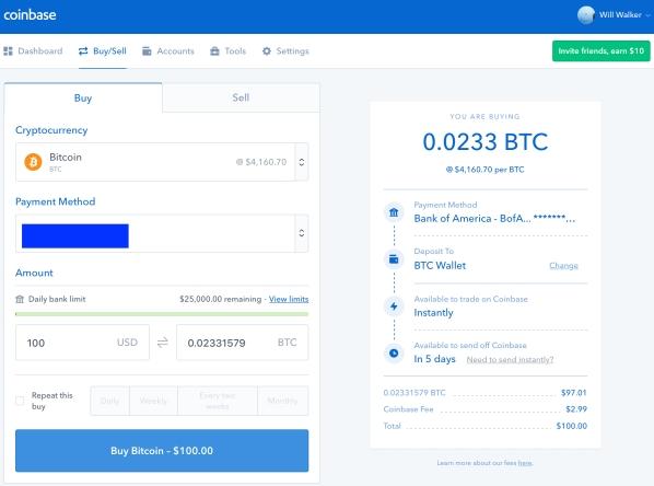 COinbase - Buy