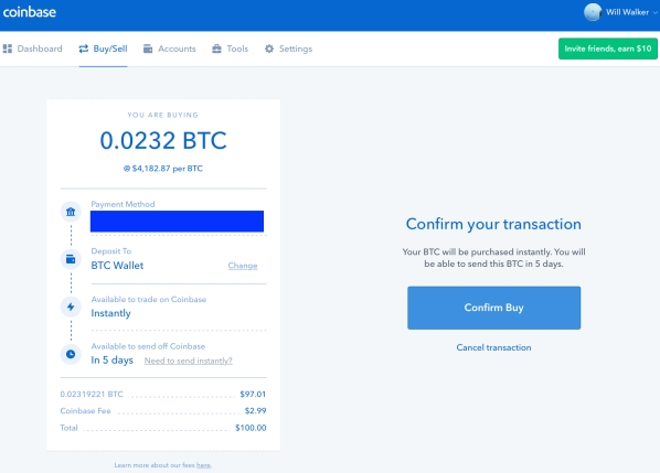 Coinbase - Confirm Buy